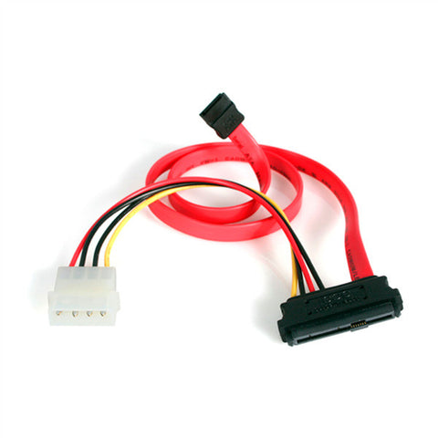 StarTech SAS729PW18 18-Inch SAS 29-Pin to SATA Cable with LP4 Power