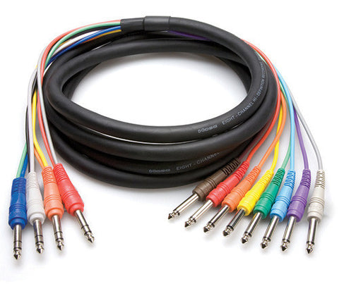 Hosa STP-803 4-Channel Return-Send Cable 1/4in TRS to 1/4in x 4 - 9.9FT