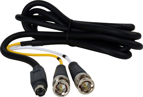 A high quality Image of Premium SVHS 4-Pin to 2 BNC Breakout Cable 25FT