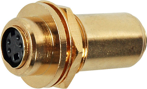 SV4-BLCM S-Video / YC 4-Pin Female-Female Gold Chassis Mount