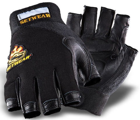 SetWear Small/8 Leather Fingerless Gloves