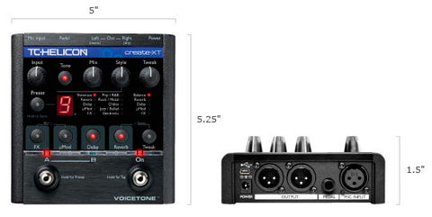 TC-Helicon VoiceTone Create XT - Vocal Effect Foot Pedal