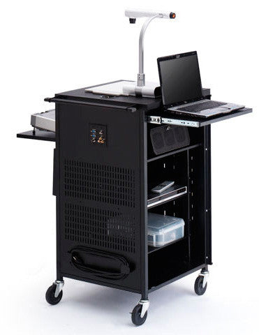Bretford TCP23-BK PAL Multimedia Cart with Rubber Casters