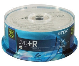 TDK 48508 25 Pack 16X DVD+R Spindle