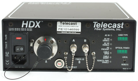 Telecast Fiber HDX-FIS-ST-LD3 Grass Valley HDX Camera Power ST to Fisher