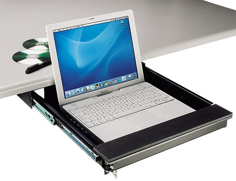 TecNec Under Desk Mount Lockable Laptop Drawer for Laptops to 17 In.