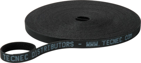 TecNec .5in x 75FT Uni-Wrap Strap Velcro - Black