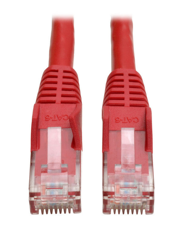 Tripp Lite N201-003-RD Cat6 Gigabit Snagless Molded Patch Cable (RJ45 M/M) - Red 3 Feet