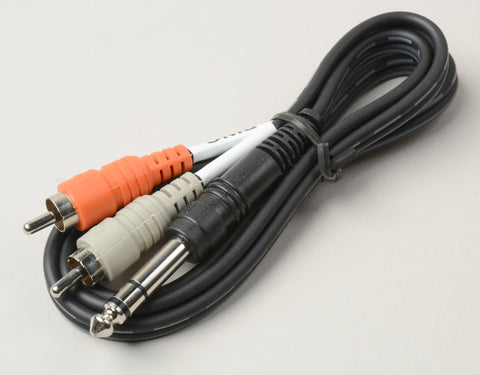 Hosa STP-201 1/4in TRS Male to 2 1/4in Mono Male Insert Cable 1-Meter