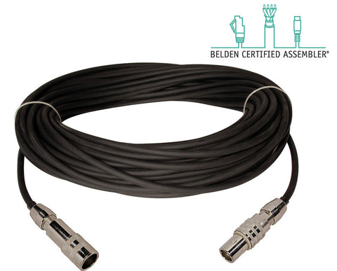 Belden 1857A Triax Cable with Trilok Male to Female Connectors 125FT