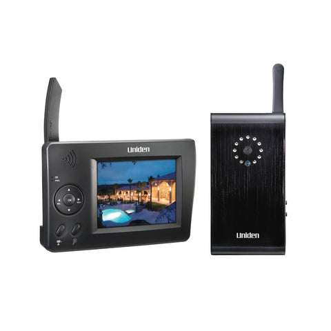Uniden UDW10003 Video Surveillance System - Monitor and Camera - Wireless - 3.5in LCD - CMOS