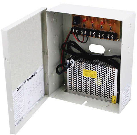 4-Channel CCTV Camera Power Supply - 12VDC - 5 Amps