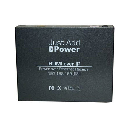 Just Add Power VBS-HDMI-108POE 1G Power Over Ethernet Receiver