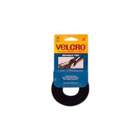 Velcro 90927 8 In x 1/2 In Straps 25 - Black