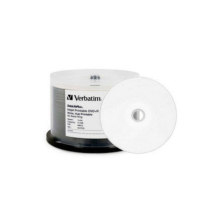 Verbatim 94812 4.7Gb White 8x DVD+R 50pc Spindle