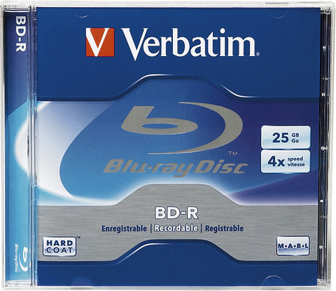 Verbatim 96434 BD-R 4x Write-Once Blu-Ray Recordable Disc