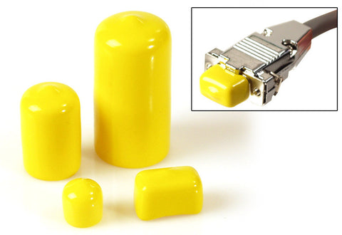 A high quality Image of 10pk of Yellow Plastic Caps / Bust Boots for XLR Connectors
