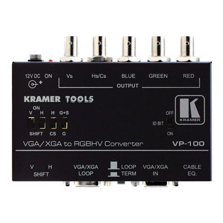 A high quality Image of Kramer VP-100 VGA/XGA To RGBHV Converter