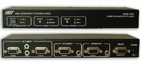 HRT VS-2A 2-Port VGA Switch with Audio & Serial Control