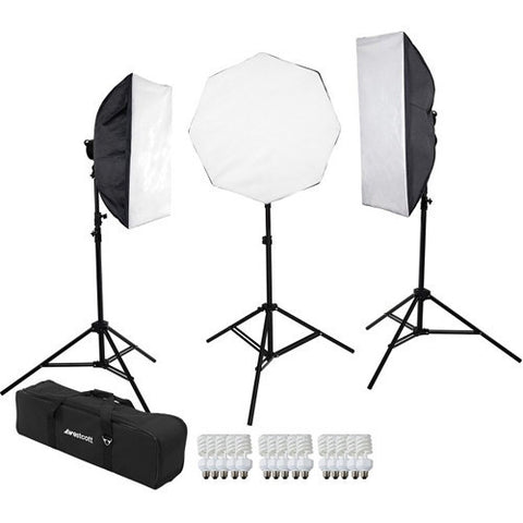 Westcott 483 D5 3-Light Daylight Softbox Kit with Case