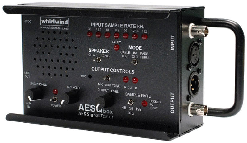 Buy Whirlwind AES Qbox AES/EBU Audio Line Tester- 48/96/192 kHz