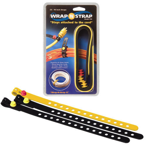 Wrap N Strap 918 18In. Adjustable Cord & Cable Straps/Fasteners 3 pack