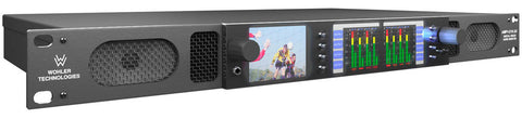 Wohler AMP1-E16V-MD 16 Channel Dual Input 3G/HD/SD-SDI Audio With Video Monitor