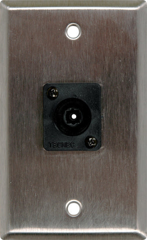 A high quality Image of 1 Gang Brass Wall PLate with 1 Toslink connector