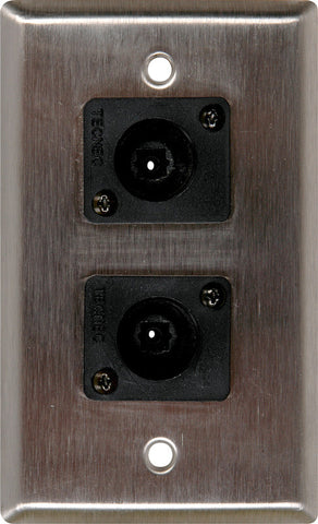 A high quality Image of 1 Gang Brass Wall PLate with 2 Toslink connectors