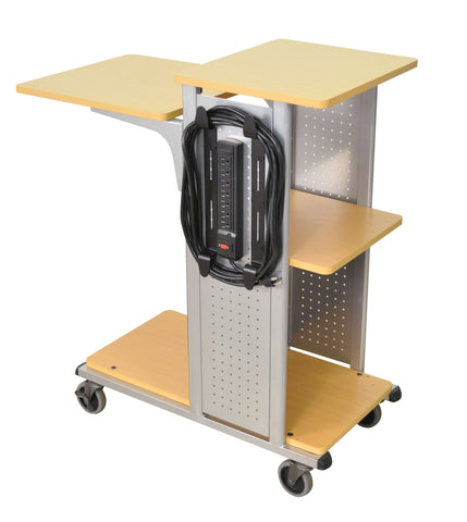 H. Wilson WPS4BRE 41-Inch High Boardroom Presentation Station with Electric - Aspen