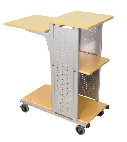A high quality Image of H. Wilson WPS4BR 41-Inch High Boardroom Mobile Presentation Station - Aspen