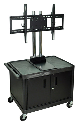 A high quality Image of H. Wilson WPTV28C2E Mobile Cabinet Cart with Universal 37-60-Inch LCD TV Mount