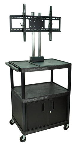 H. Wilson WPTV44C2E Mobile Cabinet Cart with Universal LCD 37-60-Inch TV Mount