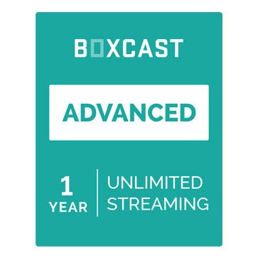 BoxCast Advanced (1-Year Live Streaming Subscription)