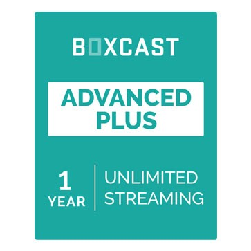 BoxCast Advanced Plus (1-Year Live Streaming Subscription)