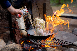 Campfire Beer Can Chicken