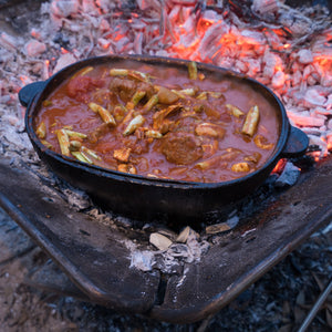 CAMPING FOOD | Campfire Lamb and Vegetable Stew