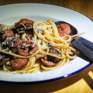 CAMPING FOOD | Chorizo and Mushroom Spaghetti