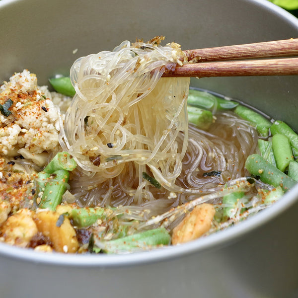 HIKING FOOD | Vermicelli Noodle & Veggies with Miso Broth
