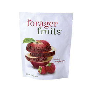 Freeze Dried Raspberry infused Apple Wedges 6 pack