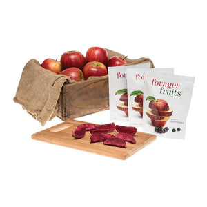 Freeze Dried Apple Wedges infused with Blackcurrant