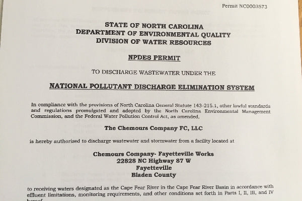 GenX Discharge Into The Cape Fear River:  Breaking Down the Chemours NPDES Permit