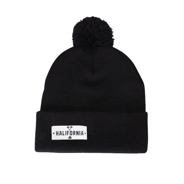 HILL Toque with Pom Pom Black
