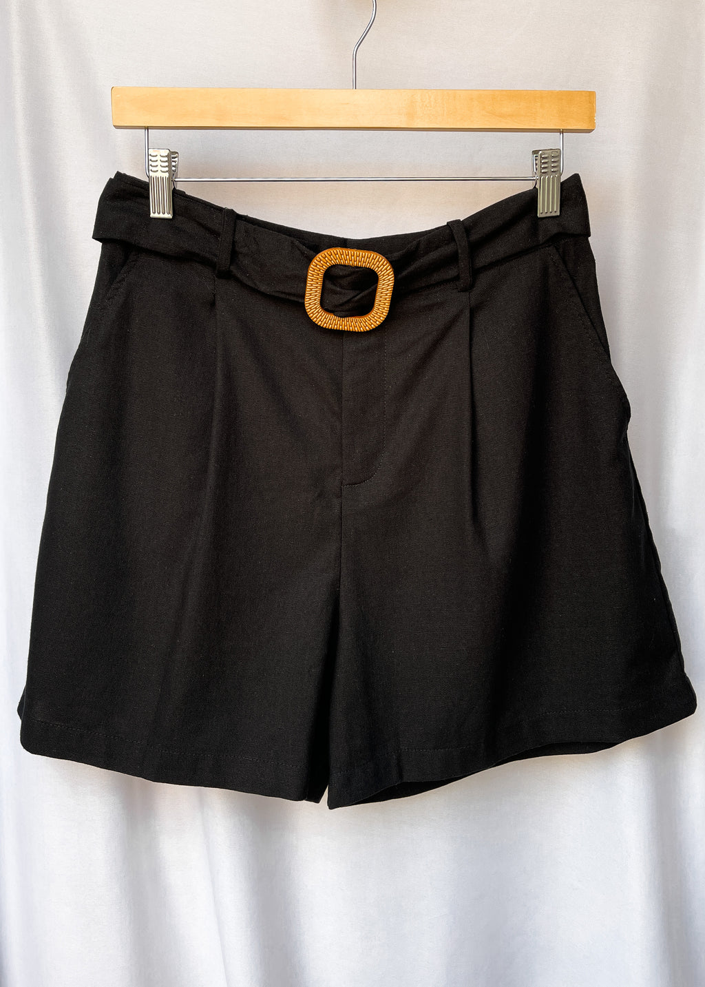 """Only Tomorrow"" Black Shorts"