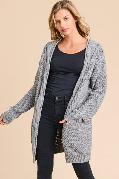 Front Detail Cardigan ~ Grey