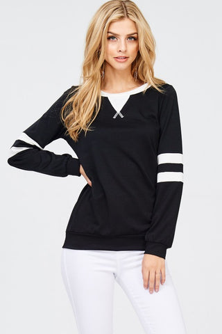 B&W Varsity Stripe Top