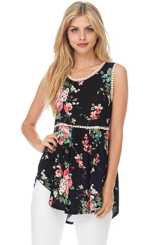 Baby Doll Floral Tunic