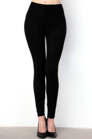 Solid Full Leggings - Black