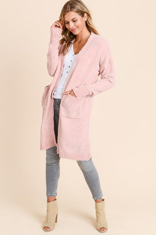 Blush Cozy Long Cardigan
