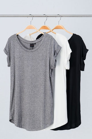 Essential Tee with Cap Sleeves